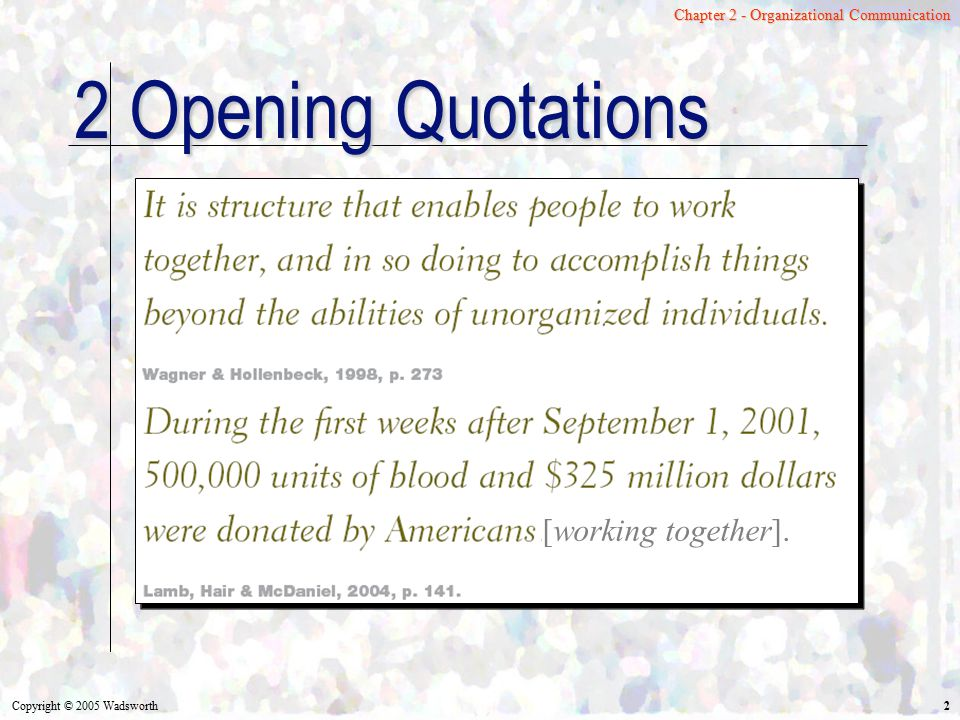 2 Opening Quotations [working together].